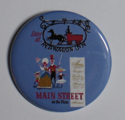 MAIN STREET RED WAGON MAGNET Disneyland Disney Poster Vintage Art