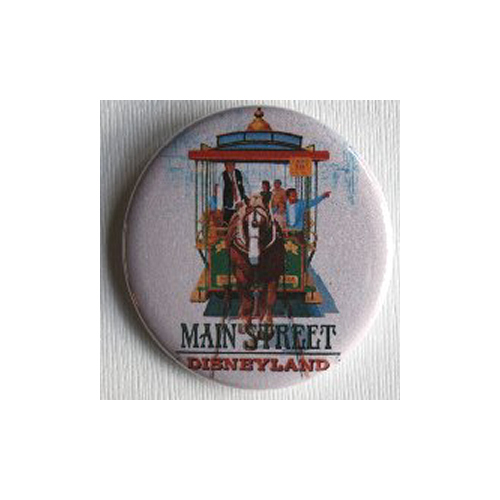 MAIN STREET TROLLEY MAGNET Disneyland Disney Poster Vintage Altered Art