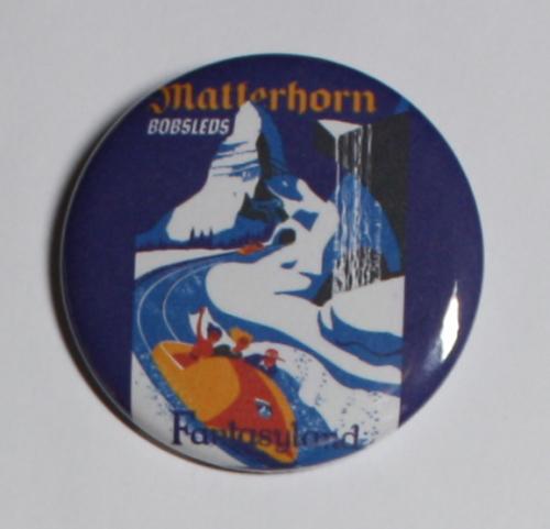 MATTERHORN BOBSLEDS MAGNET Disneyland Disney Poster Vintage Art Fantasyland