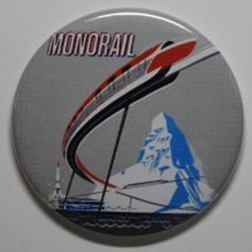 MONORAIL MAGNET Disneyland Disney Vintage Attraction Matterhorn Art