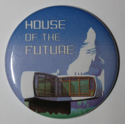 MONSANTO HOUSE OF THE FUTURE MAGNET Disneyland Disney Vintage Attraction Art