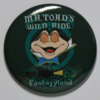 MR. TOAD WILD RIDE MAGNET Disneyland Disney Poster Vintage Art Fantasyland