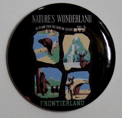 NATURE'S WONDERLAND MAGNET Disneyland Disney Poster Vintage Art Frontierland