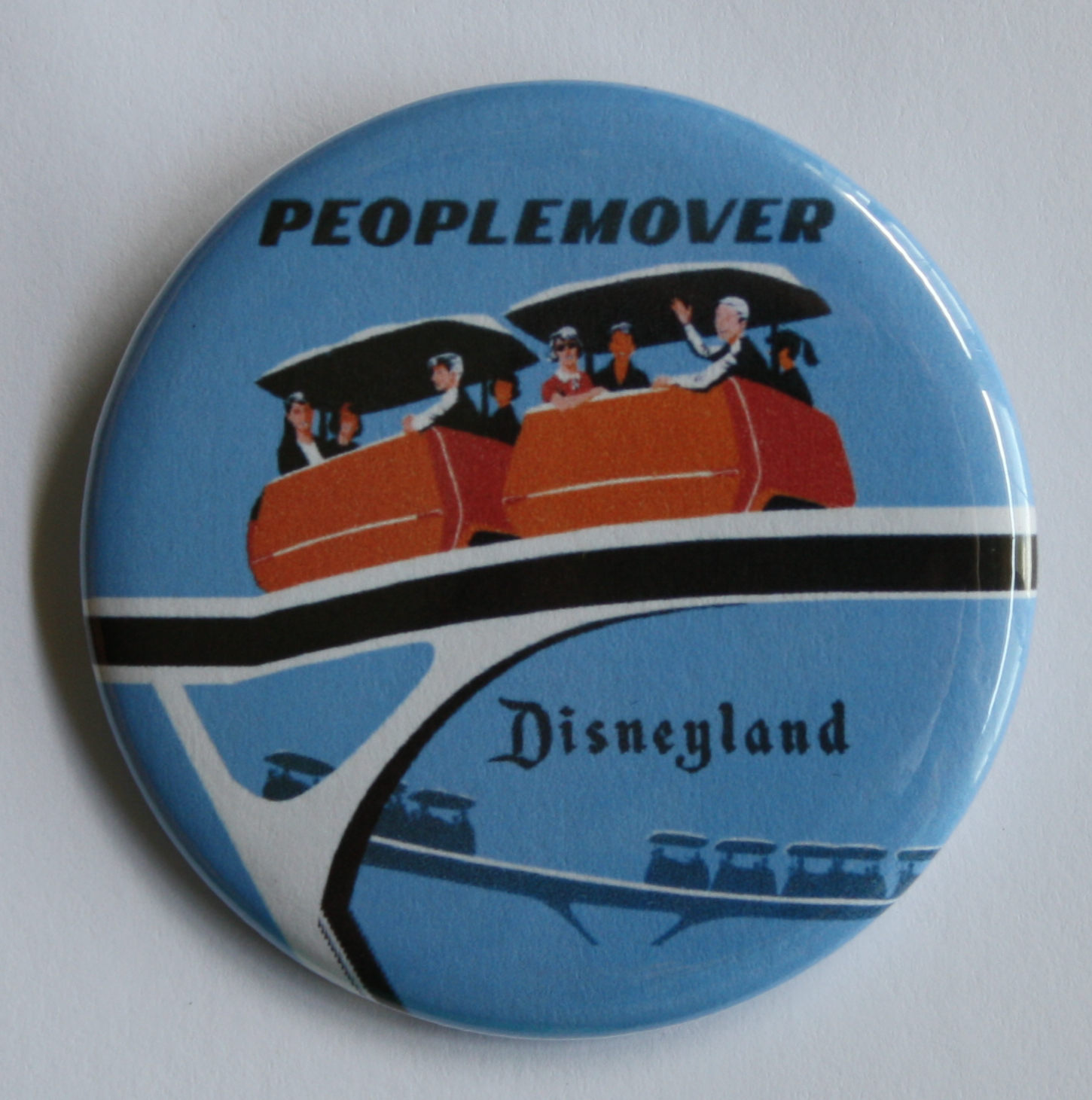 PEOPLEMOVER MAGNET Disneyland Disney Vintage Attraction Tomorrowland Art