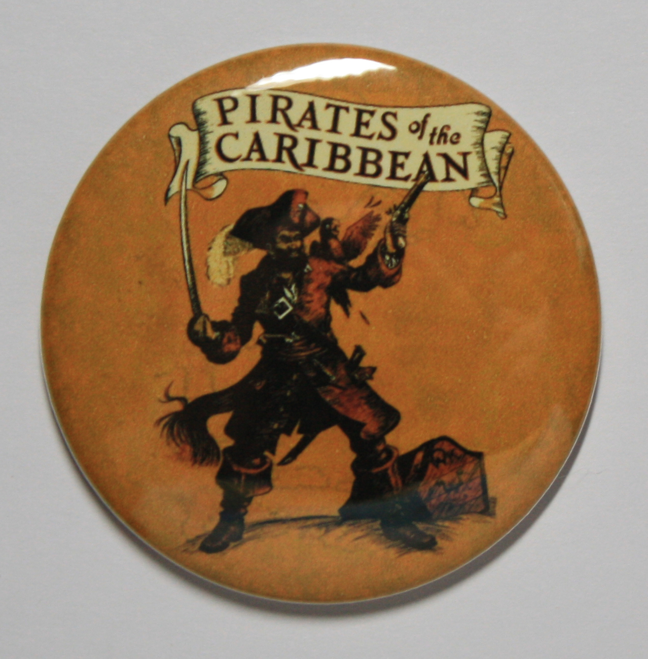 PIRATES OF THE CARIBBEAN MAGNET Disneyland Disney Poster Vintage Art