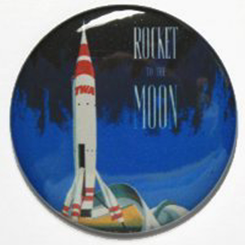 ROCKET TO THE MOON MAGNET Disneyland Vintage Ride Art