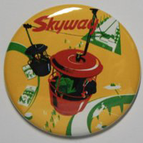 SKYWAY MAGNET Disneyland Disney Vintage Tomorrowland Sky Bucket Ride Art