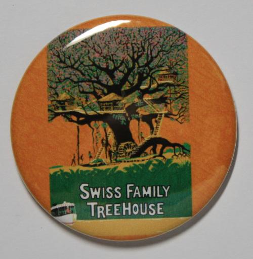SWISS FAMILY ROBINSON TREEHOUSE MAGNET Disneyland Disney Poster Vintage Art