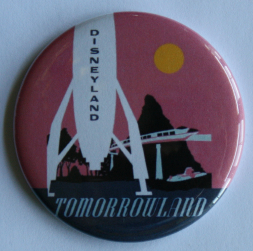 TOMORROWLAND MAGNET Disneyland Disney Vintage Ride Attraction Poster Art PINK