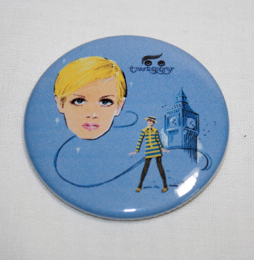TWIGGY  MAGNET Vintage Lunchbox Art Groovy London Model Supermodel Lunch Box