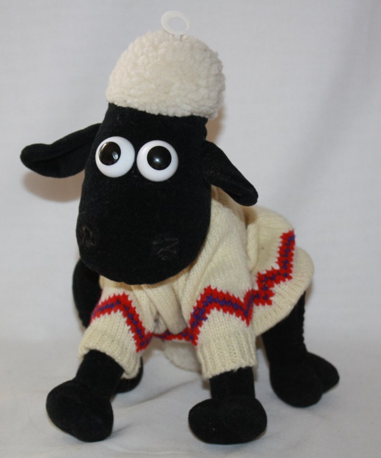Vintage 1989 Wallace and Gromit Shaun the Sheep in Sweater 1989