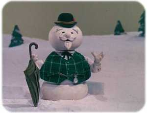 Sam the Snowman, voiced by Burl Ives, from Rudolph the Red-Nosed Reindeer